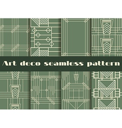 Art deco seamless patterns style 1920s 1930s vector