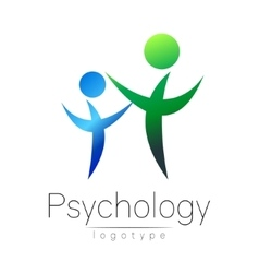 Modern people psi logo of psychology family human vector