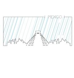 Isolated skyline of mexico city vector