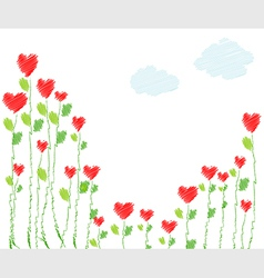 Heart flower vector