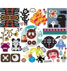 Mix of different images vol51 vector