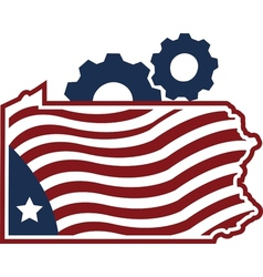 Designed and Manufactured in Pennyslvania Image vector image