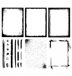 Frames and textures vector