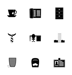 Office icon set vector
