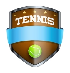 Tennis shield badge vector
