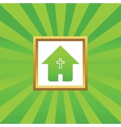 Christian house picture icon vector
