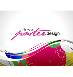 Poster design vector