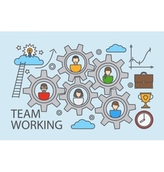 Teamwork and collaboration business concept vector