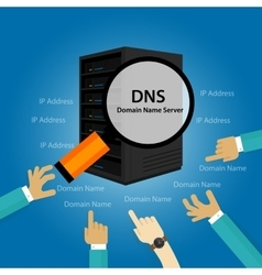 Dns domain name system server vector