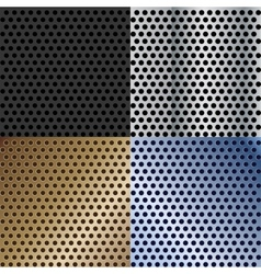 Abstract metallic textures set vector