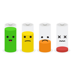 Battery icon set set of battery charge level vector