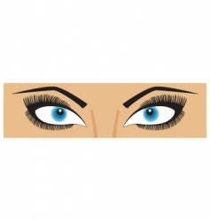 beauty eyes vector image