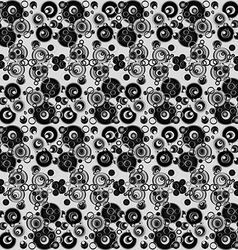 Black and white abstract background with circles vector image vector image