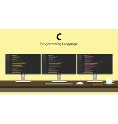 C programming language code vector