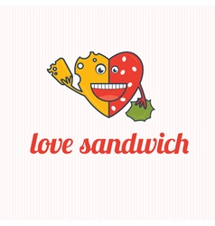 Cartoon Love sandwich vector image vector image