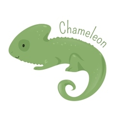 Chameleon isolated child fun pattern icon vector