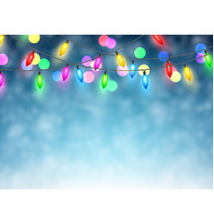 Christmas garland on blue background vector