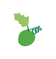 Christmas grape icon green vector