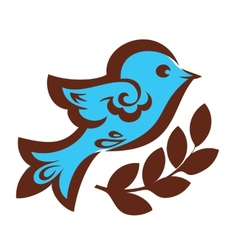 Decorative bird with wheat vector image vector image