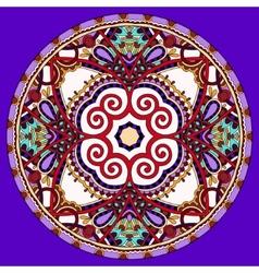 Decorative violet colour design of circle vector