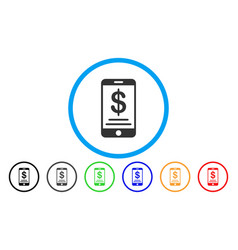 dollar mobile wallet rounded icon vector image vector image