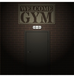 Entrance to the gym vector