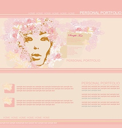 Fashion website template vector