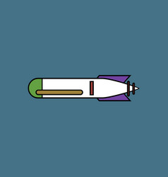 Flat icon design collection military weapon vector