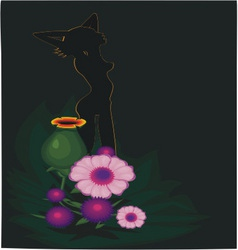 Flowers and sins vector
