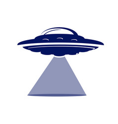 Flying saucer icon vector