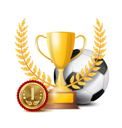 football achievement award sport banner vector image vector image