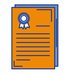 graduation certificate isolated icon vector image
