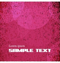 Grunge red pink background vintage style vector image