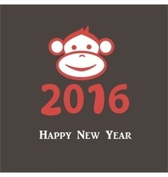 Happy new year 2016 Year Of The Monkey vector image