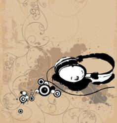 headphone background vector image vector image