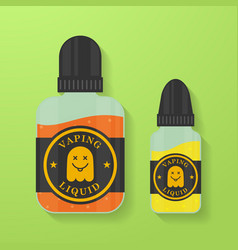 icon of vape liquid or juice with ghost vector image