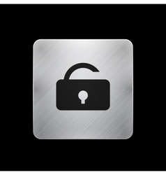 lock phone button vector image vector image