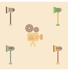 Movie stage light collection vector