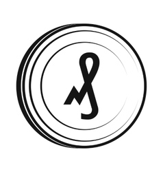 Pfennig icon simple style vector image
