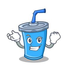 Successful soda drink character cartoon vector