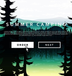 Summer nature landscape on background of mountains vector