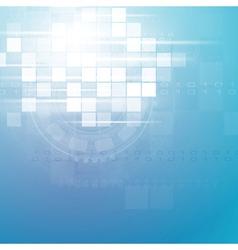 Technology blue backdrop vector image vector image