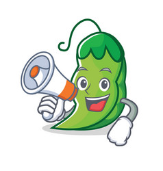 with megaphone peas character cartoon style vector image vector image