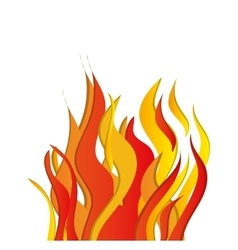 Flame fire hot red orange yellow icon vector