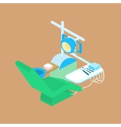 Color isometric dental clinic vector