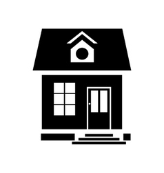 Little house icon simple style vector image