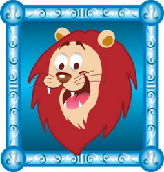 Leo cartoon vector image