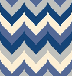 Bluesy rounded chevron vector