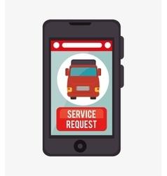 service request online aplication vector image