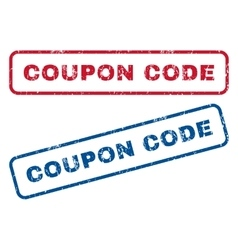 Coupon code rubber stamps vector